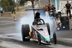 Madison Whitten in her dragster