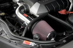 metal K&N intake system installed