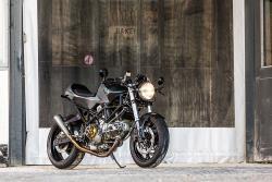 Custom Ducati Cafe Racer Motorcycle built by Smokin Motorcycles