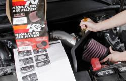 It only takes 90 minutes to reap the benefits of a K&N cold air intake system