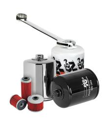 K&N oil filters are designed for all types of oil including conventional, synthetic, and blends