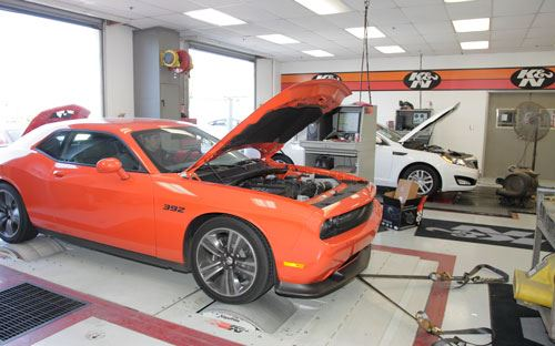 dodge charger on dyno