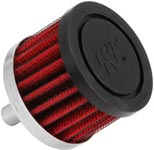 Steel Base Crankcase Vent Filter with Rubber Top