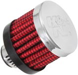 Rubber Base Crankcase Vent Filter with Steel Top