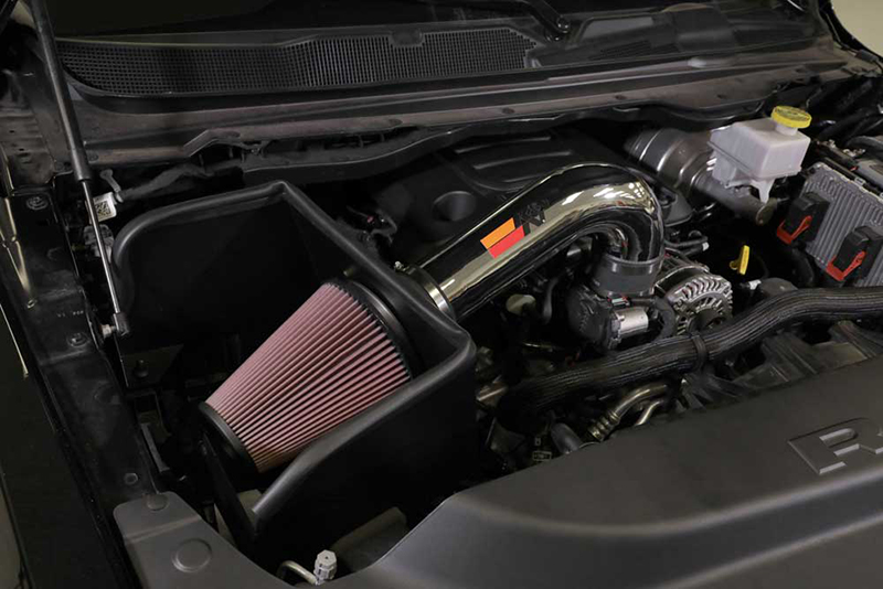 The 77-1578KP cold air intake system after installation