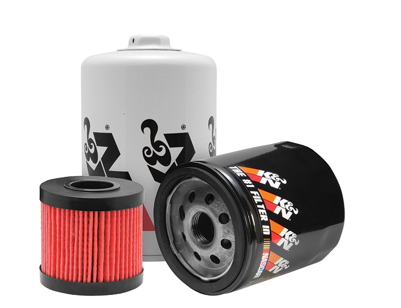 K&N filters for synthetic oil filtering