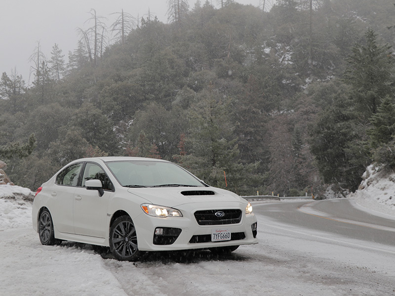 Subaru WRX in the snow