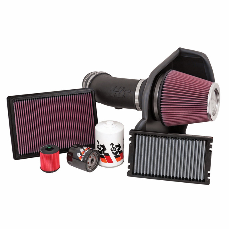 K&N air filters, cold air intake systems, cabin filters, and oil filters