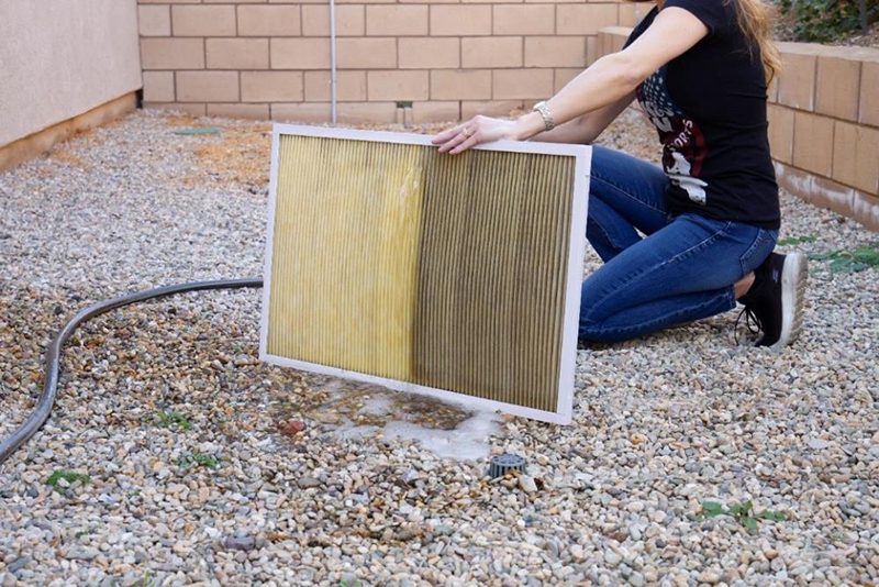 Installing HVAC Filter