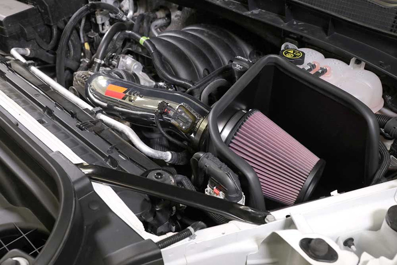 The 77-3110KP cold air intake system with aluminum tube