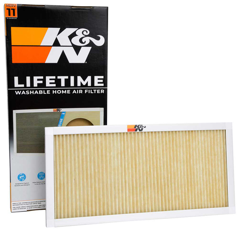 K&N home air filters are designed to last a lifetime