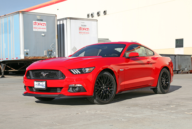 2015 Ford Mustang GT red performance upgrade