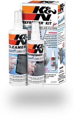 K&N cab filter cleaning kit