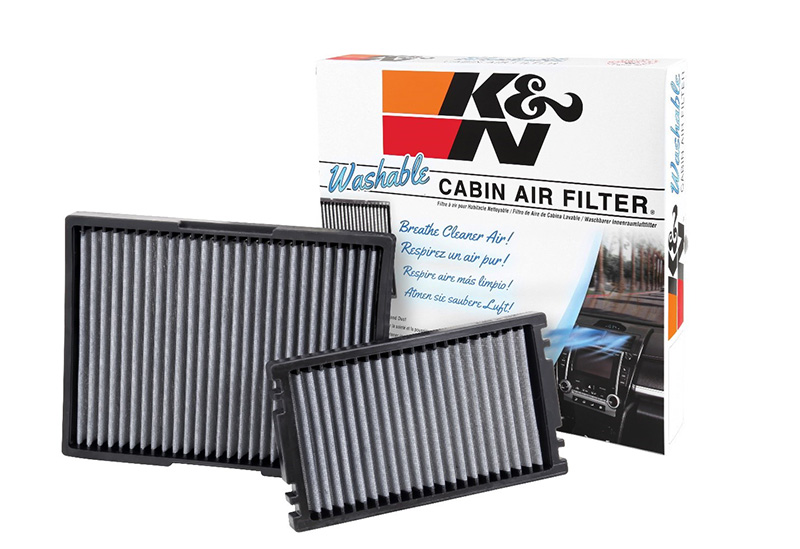 Group of K&N cabin filters with box