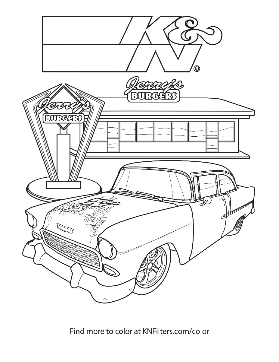 K amp N Printable Coloring Pages for