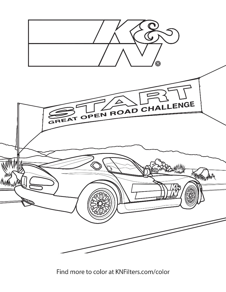 coloring book page for kids honda