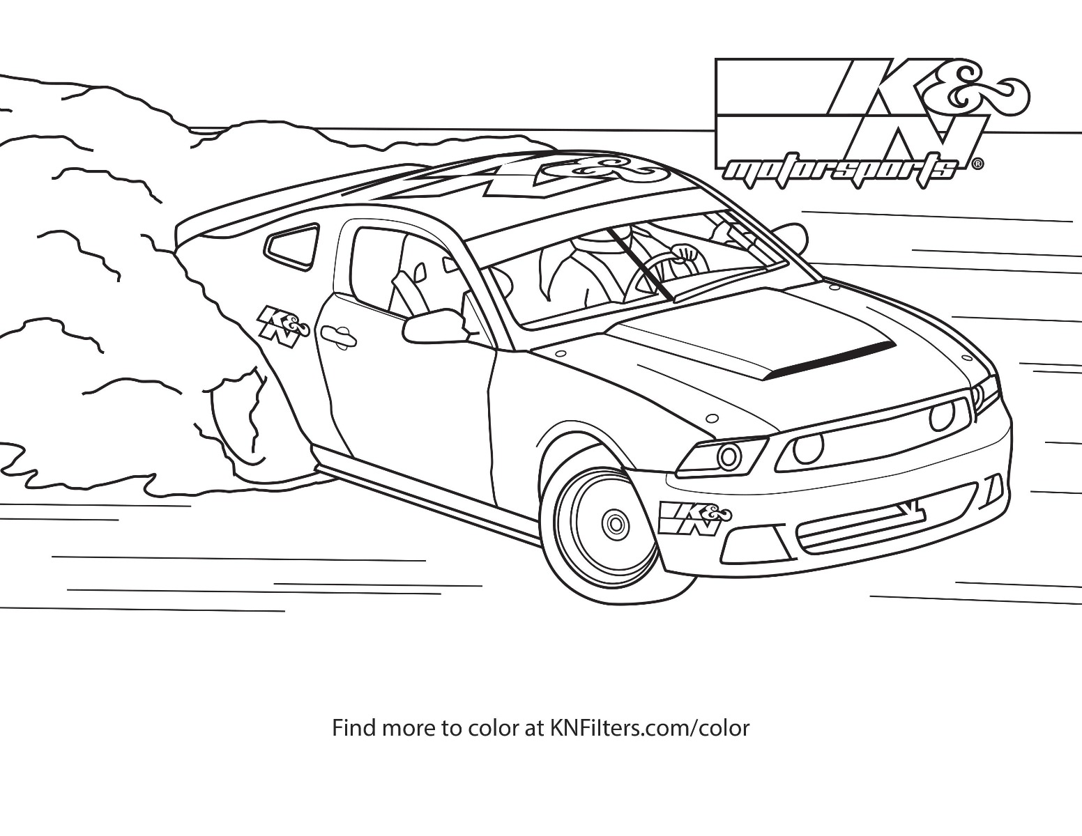 K&N Printable Coloring Pages For Kids