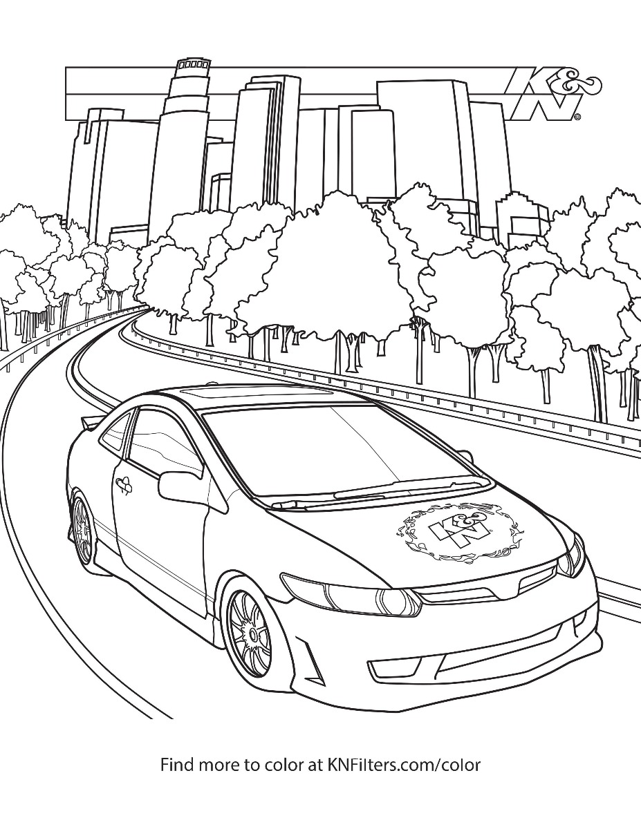 coloring book page for kids big rig