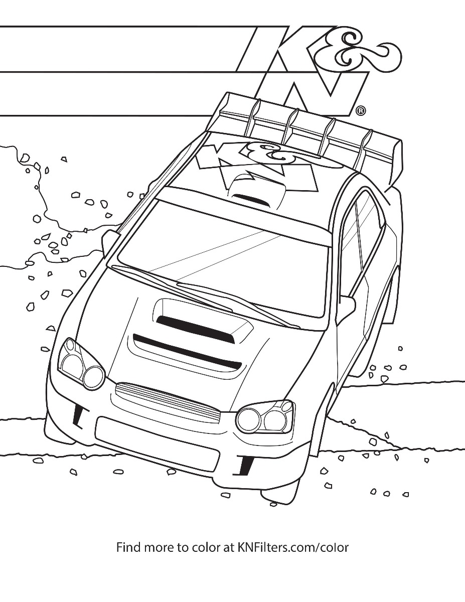coloring pages for kids funny car