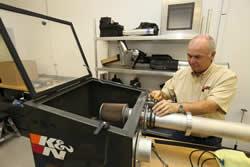 K&N Air Flow Testing
