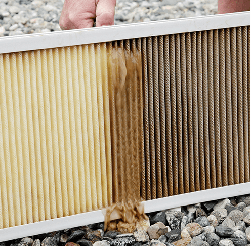 washing dirty home air filter air condition filters